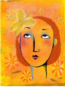 Judy Stead illustration of woman imagining