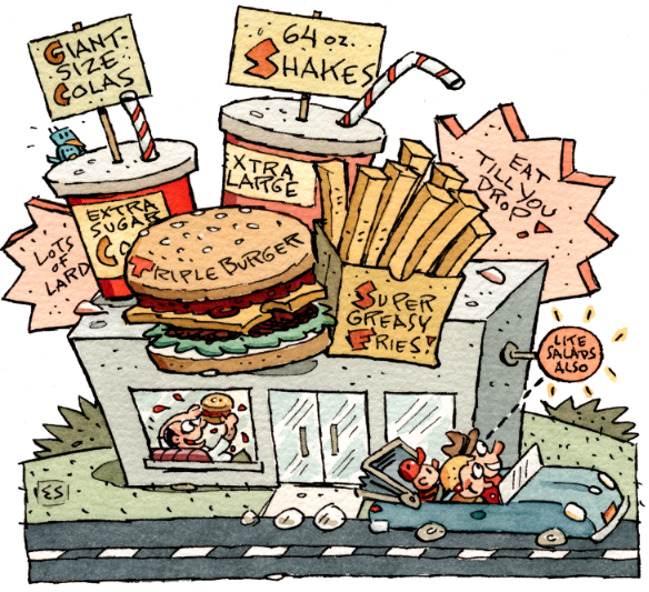 Humorous fastfood image by Elwood Smith